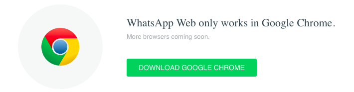 whatsapp chrome error