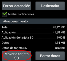 Mover Apps en SD
