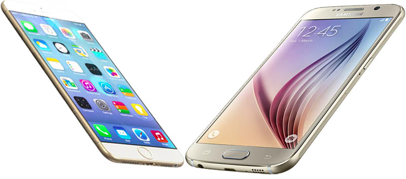 galaxy s6 vs iphone 6s