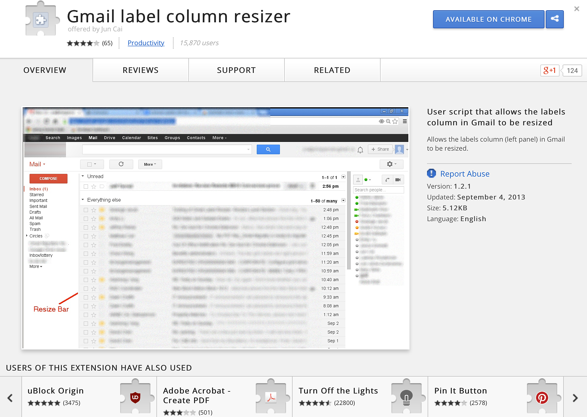 Gmail Label Column Resizer