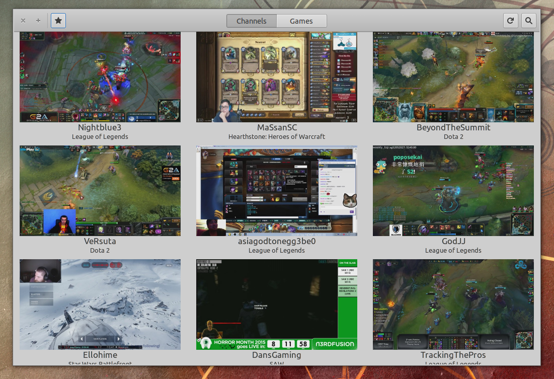 Twitch Canales