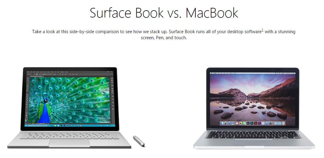 Surface vs MacBook