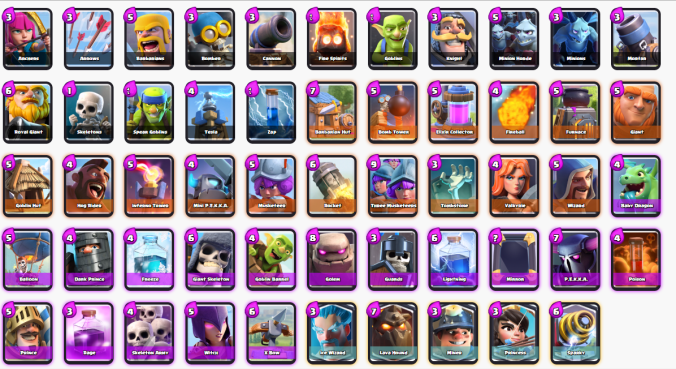 Todas las Cartas Clash Royale