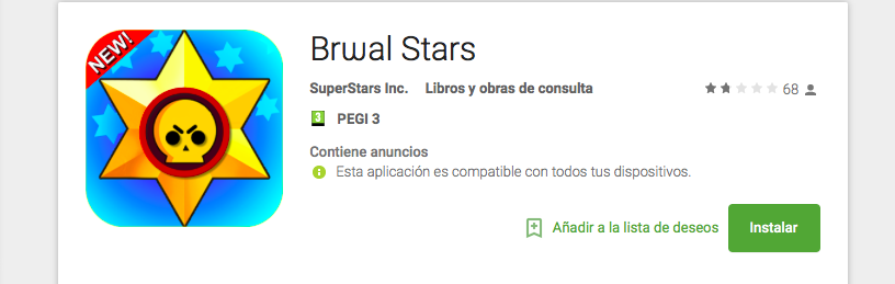 Falso Brawl Stars Android falso